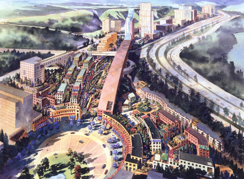 Santa Fe Master Plan - Aerial of Housing, Commercial and Office