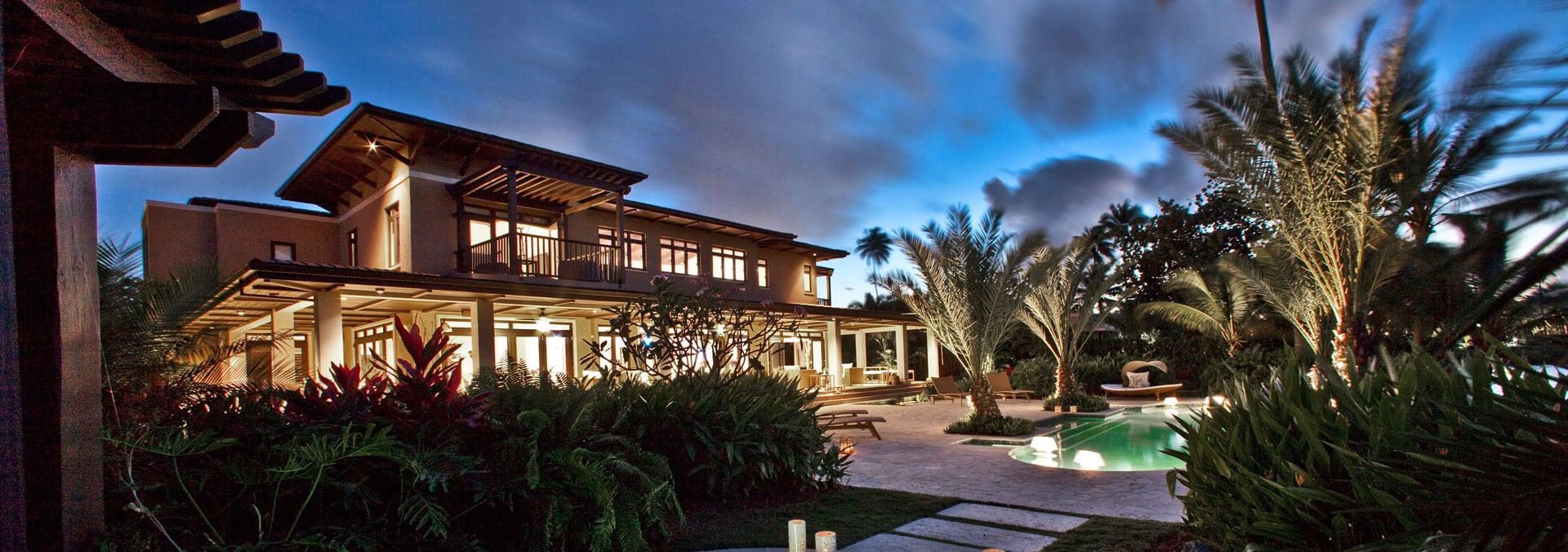 Bahia Beach House I, view from lagoon
