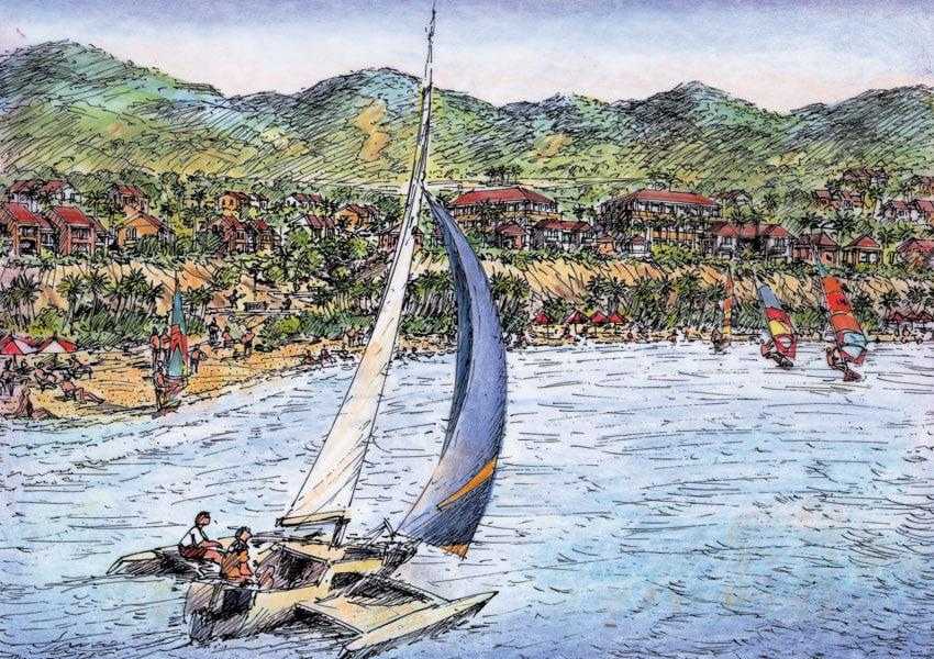 Punta Toro Catamaran View