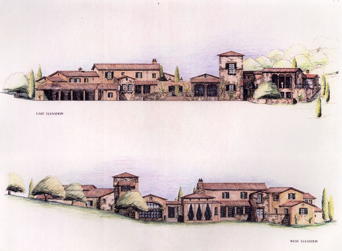 California House IV elevations