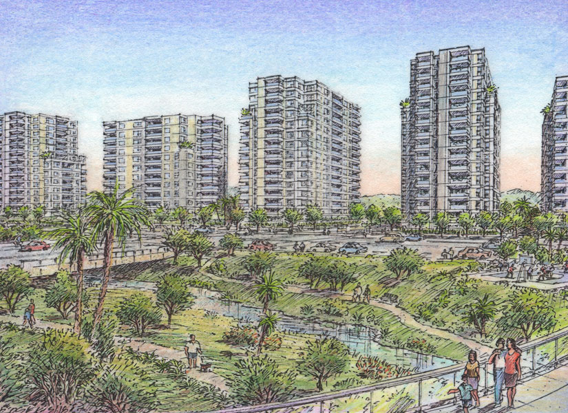 Riviera Master Planned Community-mid-rise